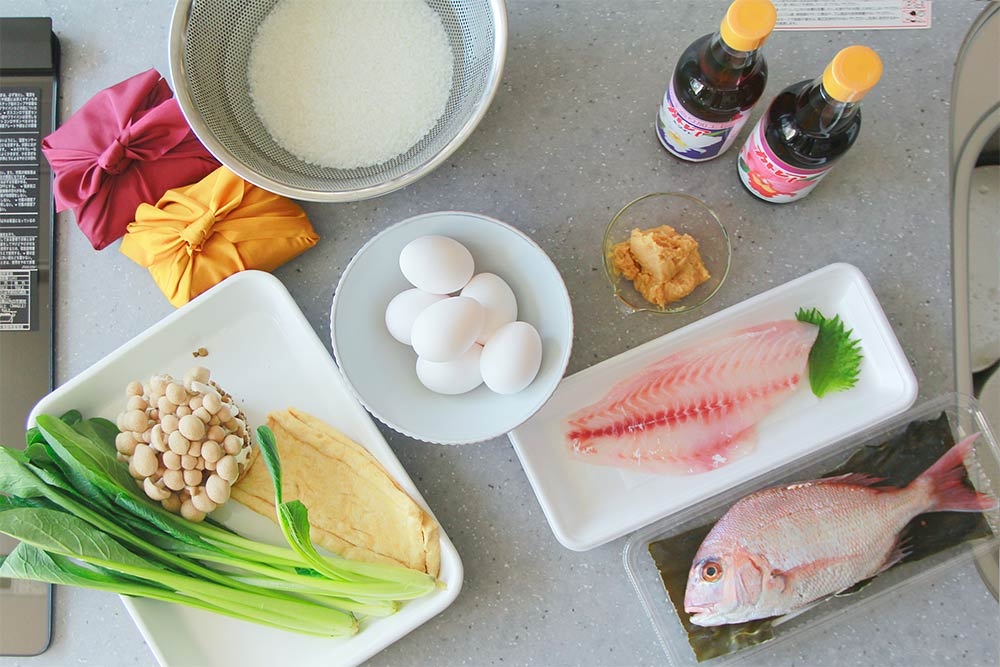 鯛を味わう朝食作り